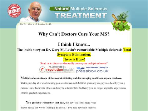 Proven Ms Treatment By Dr Gary Levin 1:36 Conversion!.